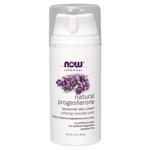 NOW Solutions Natural Progesterone Balancing Skin Cream with Lavender