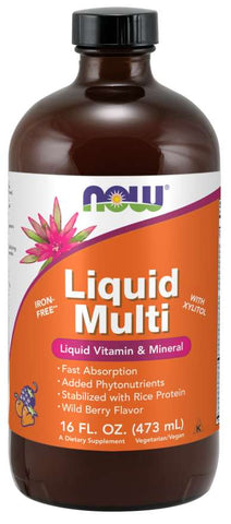 NOW Liquid Multi - Wild Berry