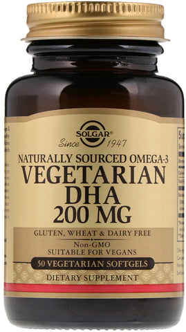 Solgar Naturally Sourced Omega-3 Vegetarian DHA 200 mg