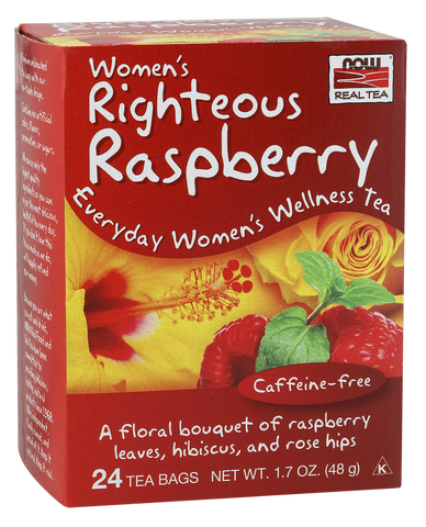 NOW Foods Women's Righteous Raspberry Tea
