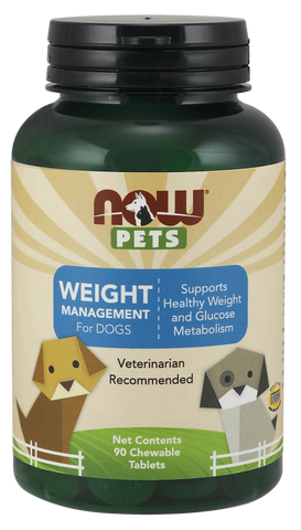 NOW Pets Weight Management Chewable Tablets for Dogs
