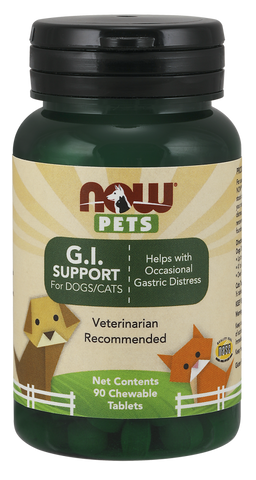 NOW Pets G.I. Support Chewables for Dogs & Cats