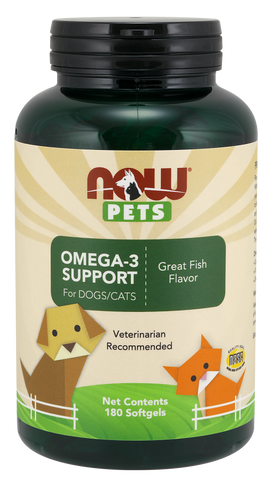 NOW Pets Omega-3 Support for Dogs/Cats