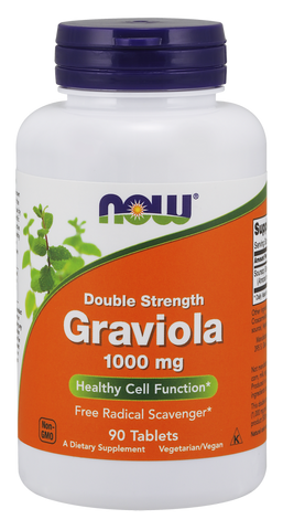 NOW Graviola 1000 mg, Double Strength