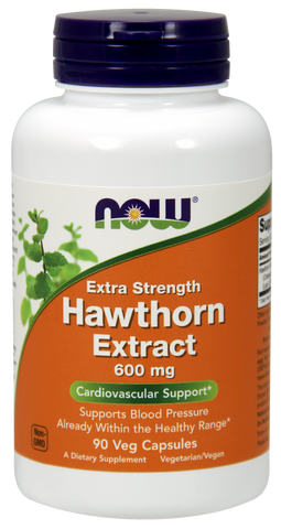 NOW Hawthorn Extract 600 mg, Extra Strength