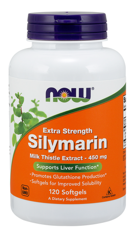 NOW Silymarin Milk Thistle Extract, Extra Strength 450 mg