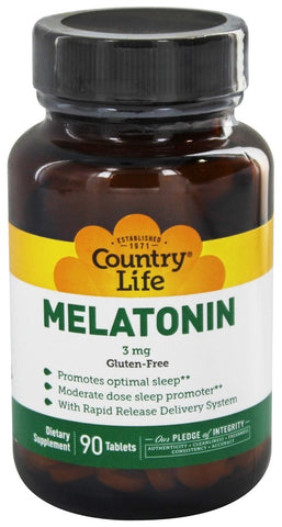 Country Life Melatonin 3 mg Rapid Release