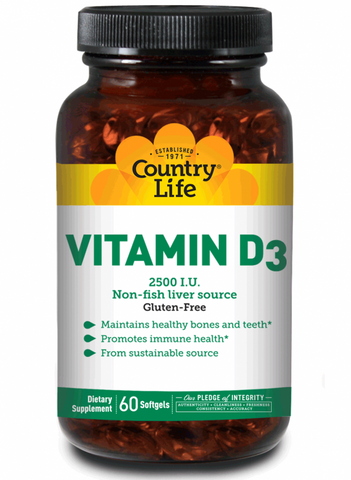 Country Life Vitamin D3 2500 IU