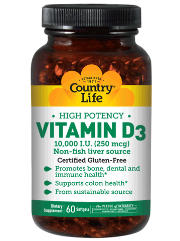 Country Life Vitamin D3 10000 IU