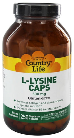 Country Life L-Lysine Caps