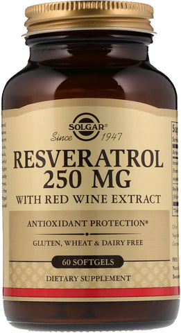 Solgar Resveratrol 250 mg with Red Wine Extract