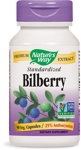 Natures Way Bilberry Extract (Standardized)