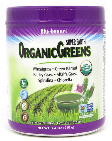 Bluebonnet Nutrition Super Earth OrganicGreens Powder