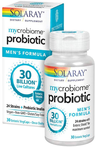 Solaray Microbiome Probiotic Men's Formula 30 Billion