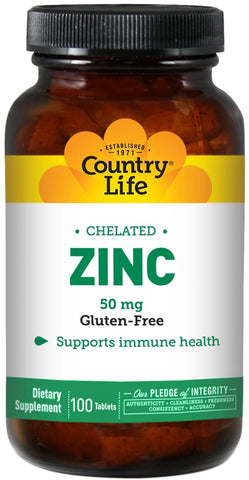 Country Life Chelated Zinc 50 mg