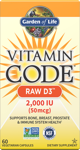 Garden of Life Vitamin Code Raw D3 2,000 IU
