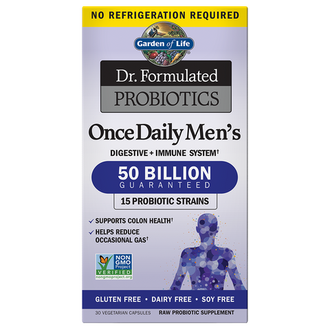 Garden of Life Dr. Formulated Once Daily Mens Probiotic 50 Billion (Shelf-stable)