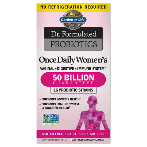 Garden of Life Dr. Formulated Once Daily Women's Probiotic 50 Billion (Shelf-stable)