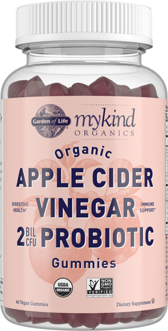 Garden of Life myKind Organics Apple Cider Vinegar 2 Billion CFU Probiotic Gummies