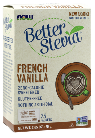 NOW BetterStevia French Vanilla packets