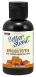 NOW BetterStevia Liquid Sweetener - English Toffee