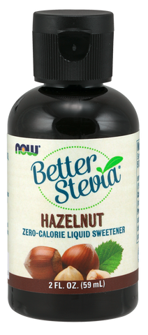 NOW BetterStevia Liquid Sweetener - Hazelnut