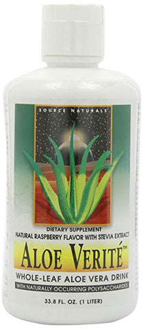 Source Naturals Aloe Verite Raspberry with Stevia
