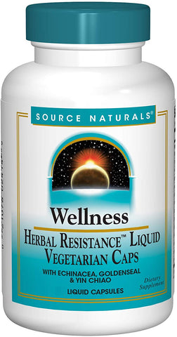 Source Naturals Wellness Herbal Resistance Liquid Vegetarian Caps