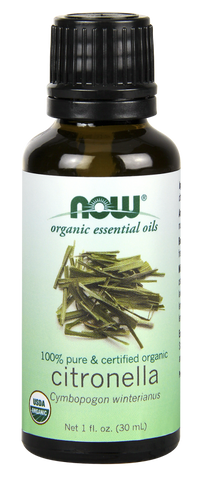 NOW Essential Oils Citronella, Certified Organic