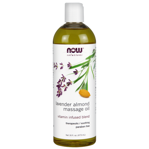 NOW Lavender Almond Massage Oil