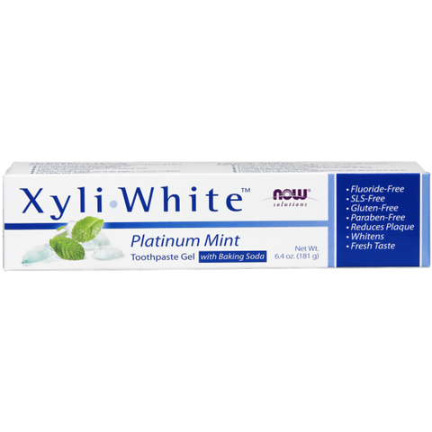 NOW XyliWhite Platinum Mint Toothpaste Gel