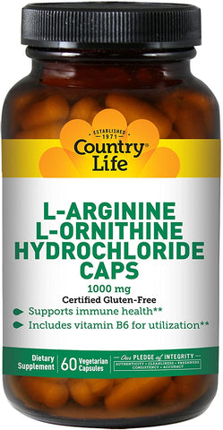 Country Life L-Arginine L-Ornithine Caps