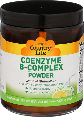 Country Life Coenzyme B-Complex Powder - Lemon Lime