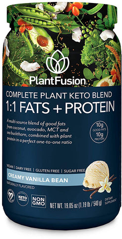 PlantFusion Complete Plant Keto Blend 1:1 Fats + Protein