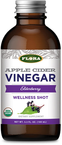 Flora Apple Cider Vinegar Wellness Shot – Elderberry