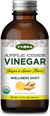 Flora Apple Cider Vinegar Wellness Shot – Ginger + Lemon