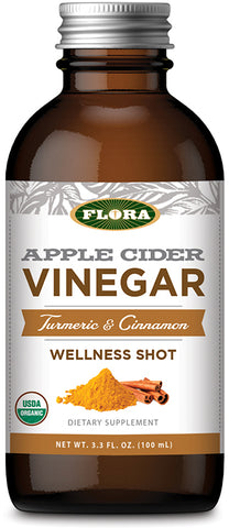 Flora Apple Cider Vinegar Wellness Shot – Turmeric + Cinnamon