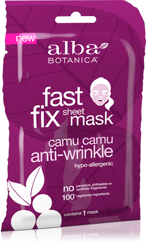 Alba Botanica Fast Fix Sheet Mask Camu Camu Anti-Wrinkle