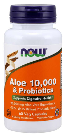 NOW Aloe 10,000 & Probiotics