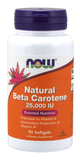 NOW Natural Beta Carotene 25,000 IU
