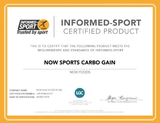 NOW Sports Carbo Gain 100% Complex Carbohydrate