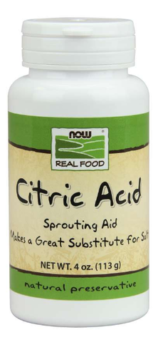 NOW Real Food Citric Acid 100% Pure