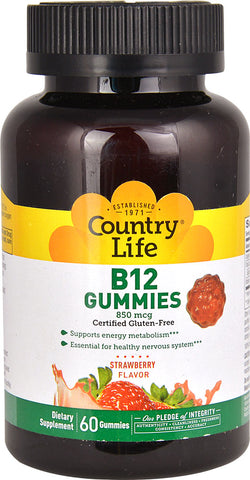 Country Life B12 Gummies (Strawberry)