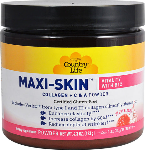 Country Life Maxi-Skin Vitality with B12 (Berry)