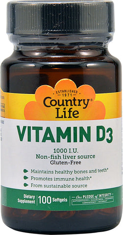 Country Life Vitamin D3 1000 IU