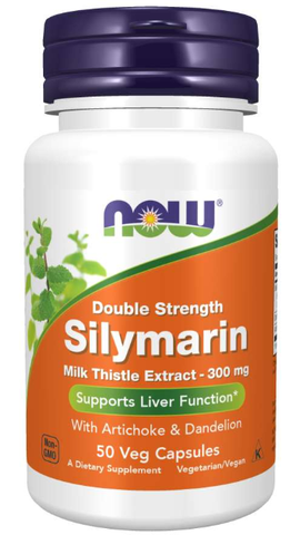 NOW Silymarin Milk Thistle Extract Double Strength (300 mg)