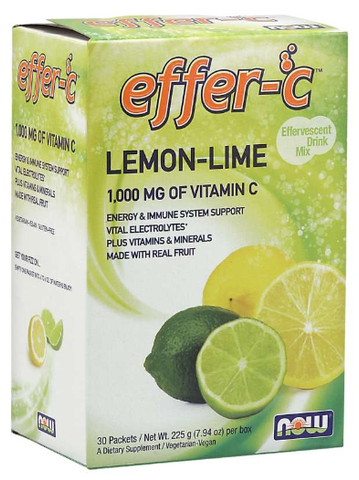 NOW Effer-C Lemon Lime Packets