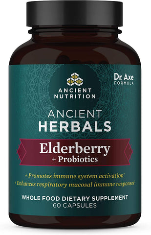Ancient Nutrition Ancient Herbals Elderberry + Probiotics