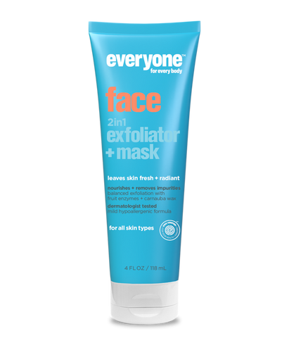 Everyone Gentle 2-in-1 Face Exfoliator + Mask