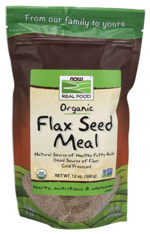 NOW Real Food Flax Seed Meal, Organic